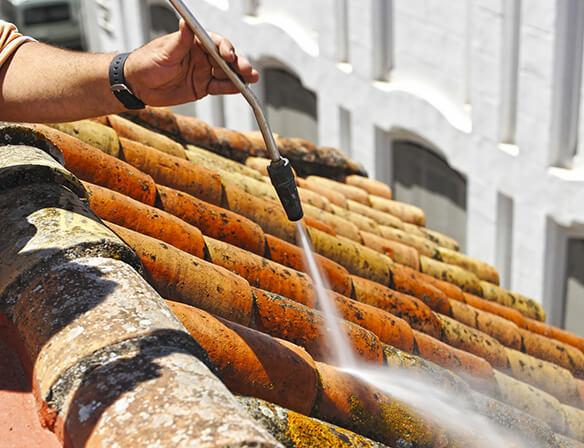 Prix d un nettoyage de toiture for Brosse telescopique pour toiture