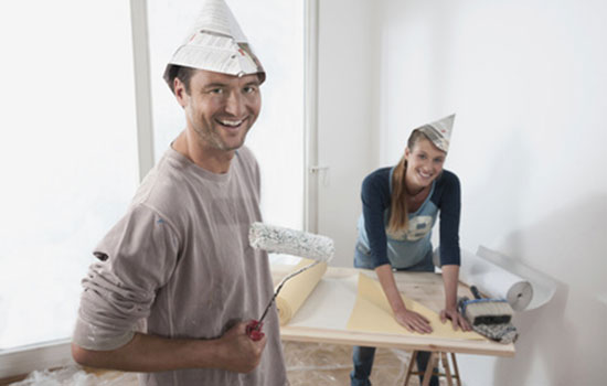 repeindre du papier peint