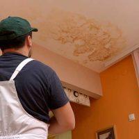 Travaux de peinture après un dégât des eaux