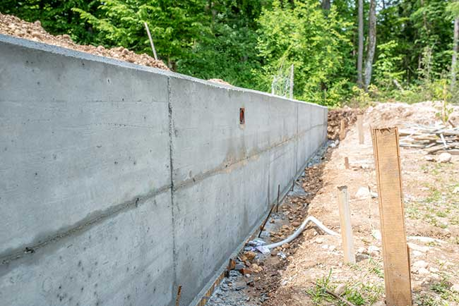 construire mur sans creuser des fondations