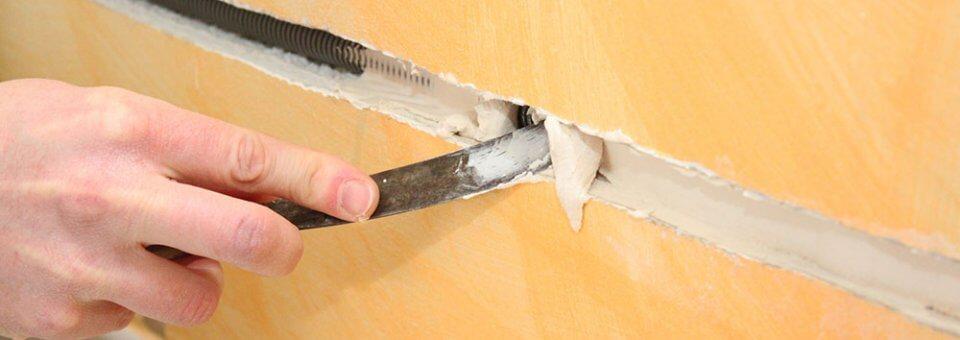 Faire une saignée dans un mur