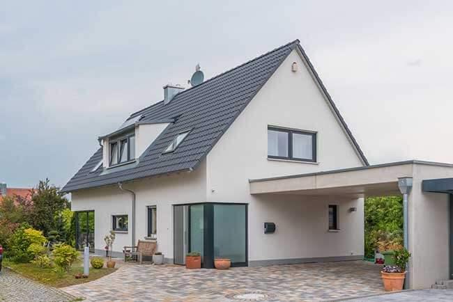 garage avec toiture plate