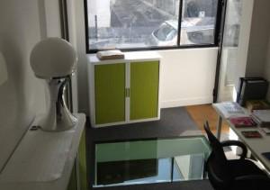travaux plancher vitré pour éclairer un appartement en souplex