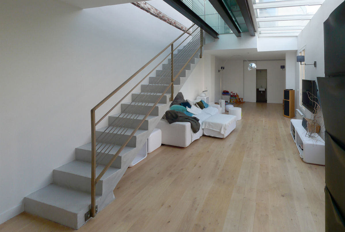 escalier droit en beton