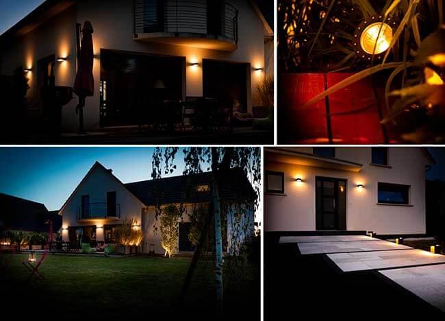 tarif installation éclairage extérieur maison