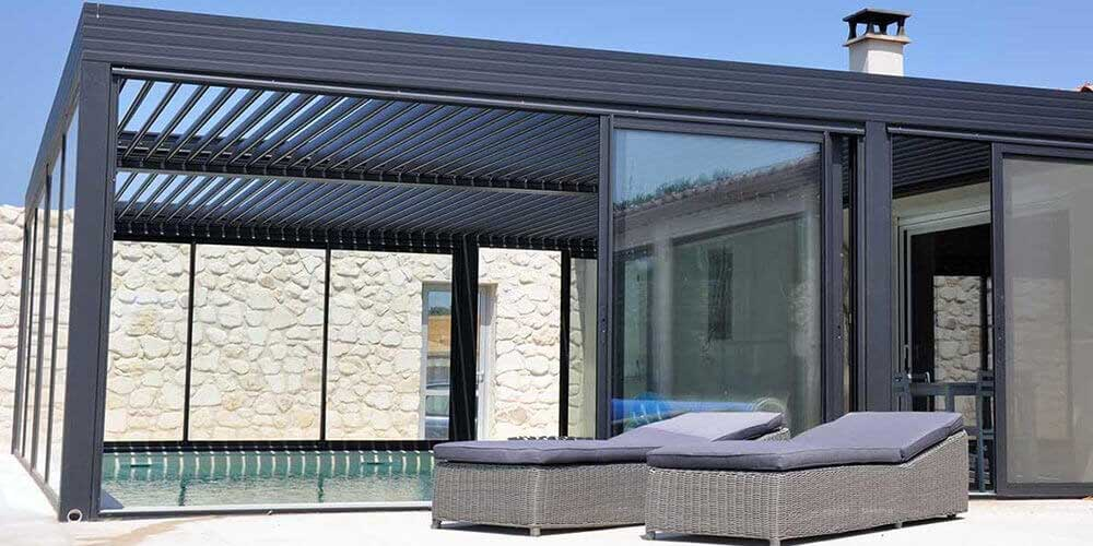 prix d une pergola bioclimatique. Black Bedroom Furniture Sets. Home Design Ideas