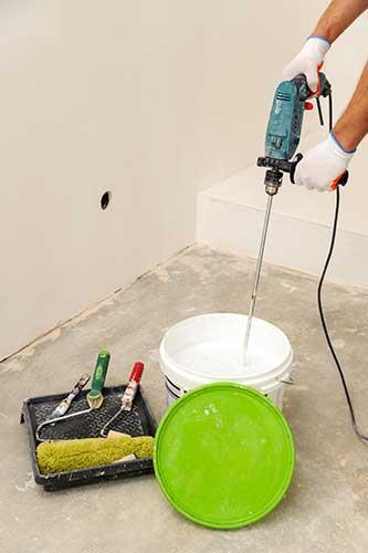 bien mélanger peinture avant peindre