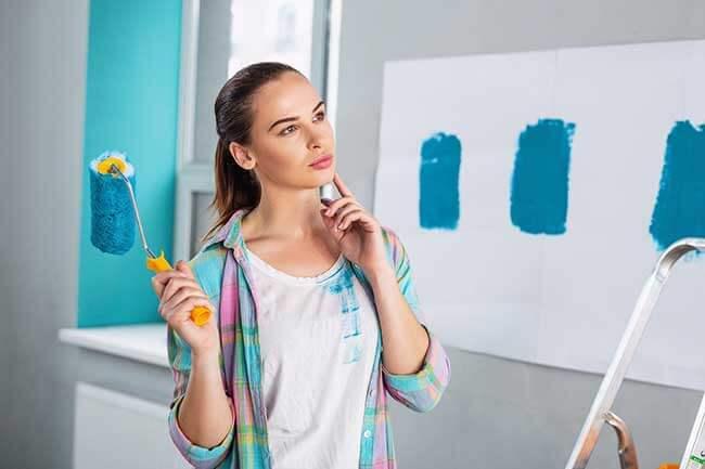 technique mélanger couleurs en peinture