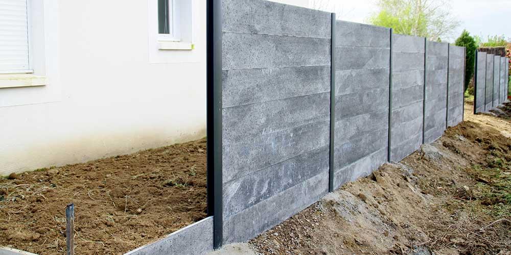 Prix d\'une clôture en béton