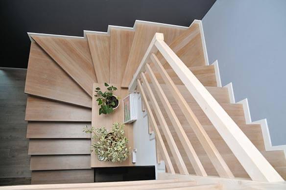 renovation escalier en bois