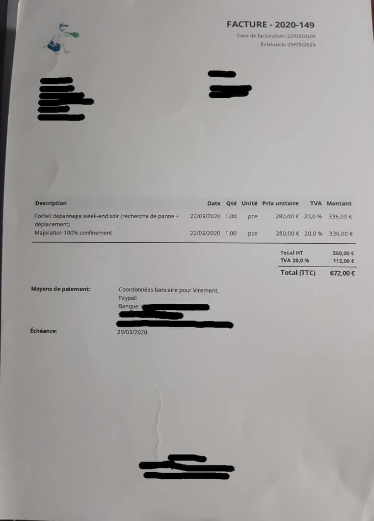 facture abusive électricien coronavirus