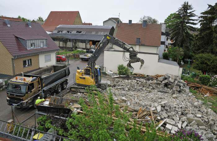 cout demolition de maison