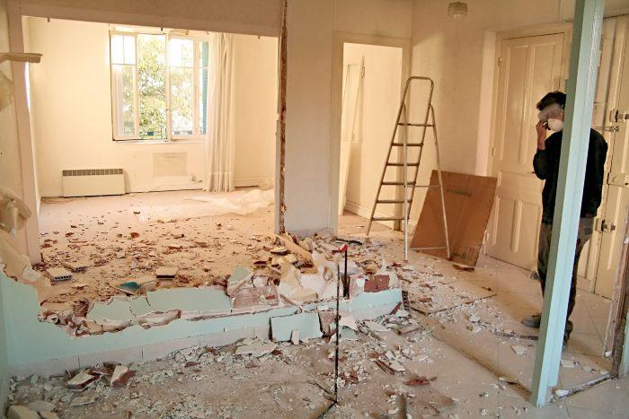 budget abattage mur interieur